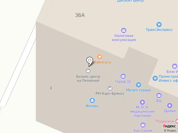 VD interior на карте Брянска