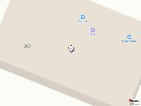 Питон на карте Брянска