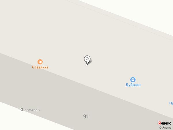 Дубрава на карте Брянска