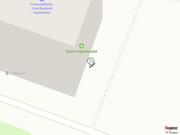 Цветочный салон на карте Брянска