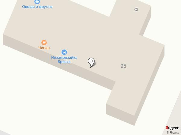 Чинар на карте Брянска