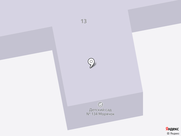 Детский сад №134, Морячок на карте Брянска