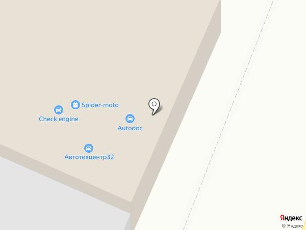 Мир потолков на карте Брянска
