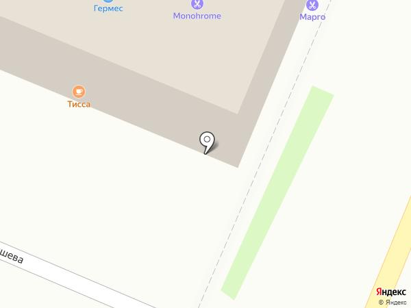 Тисса на карте Брянска