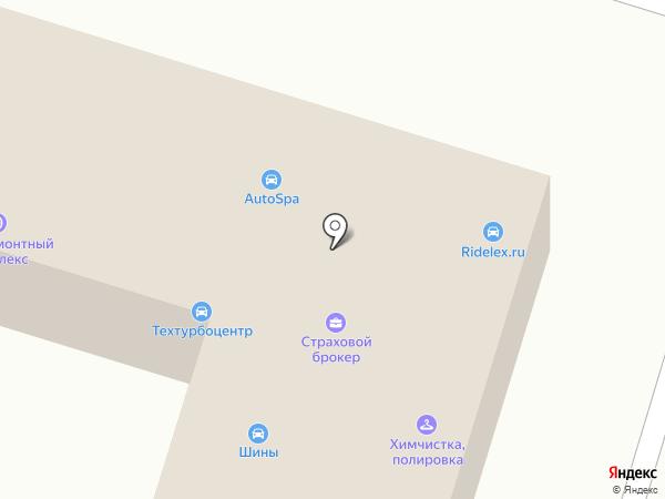 Шиноремонтный комплекс на карте Брянска