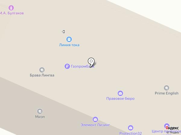 Сокол на карте Брянска