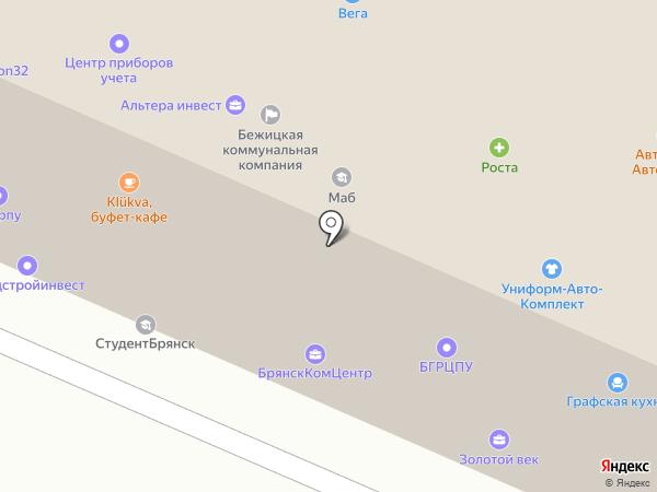 Униформ-Авто-Комплект на карте Брянска