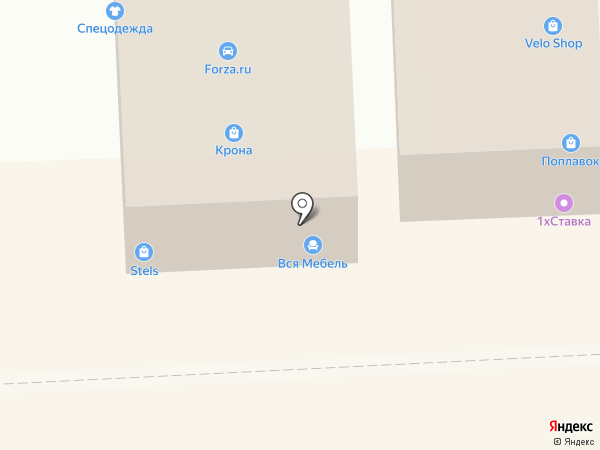 Магазин мебели на карте Брянска