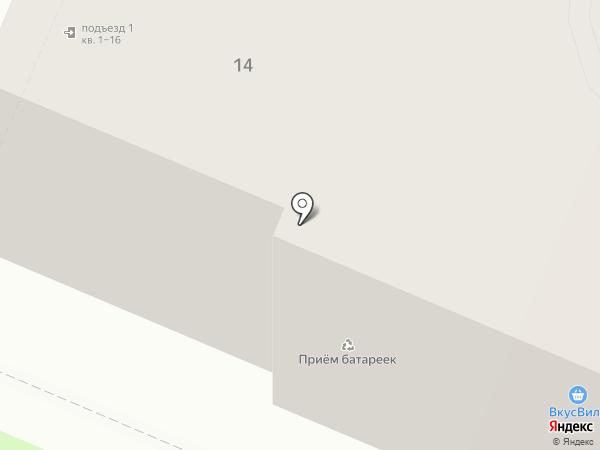 Каштан на карте Брянска