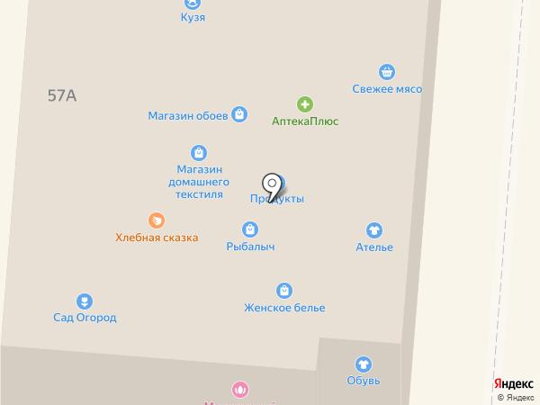 Магазин домашнего текстиля на карте Брянска