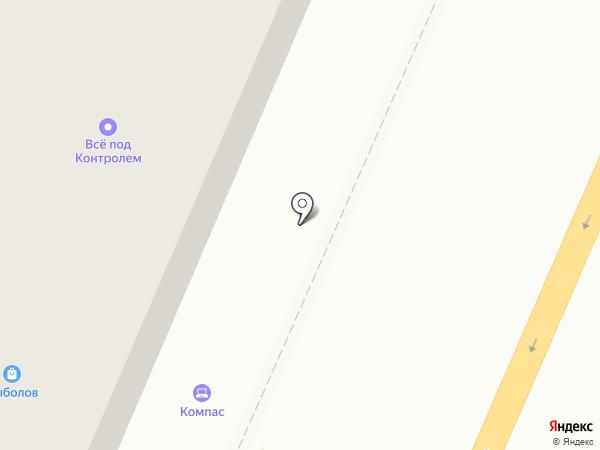 Компас на карте Брянска