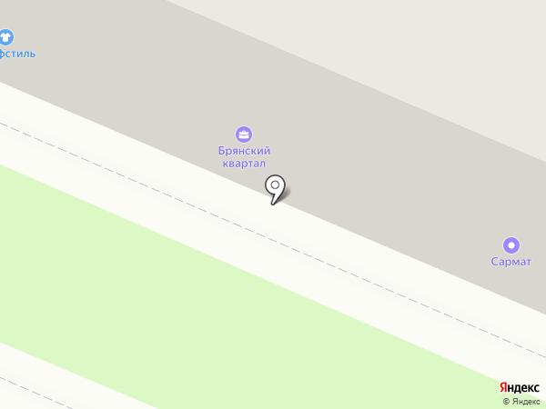 Документаль на карте Брянска