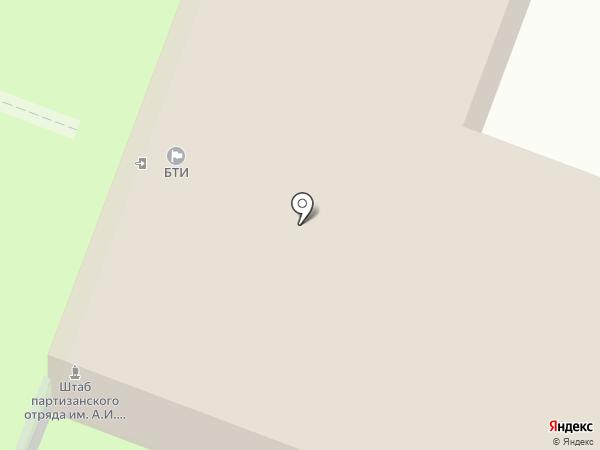 Брянскоблтехинвентаризация на карте Брянска