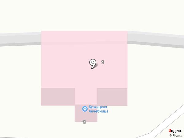 Бежицкая ветеринарная лечебница на карте Брянска