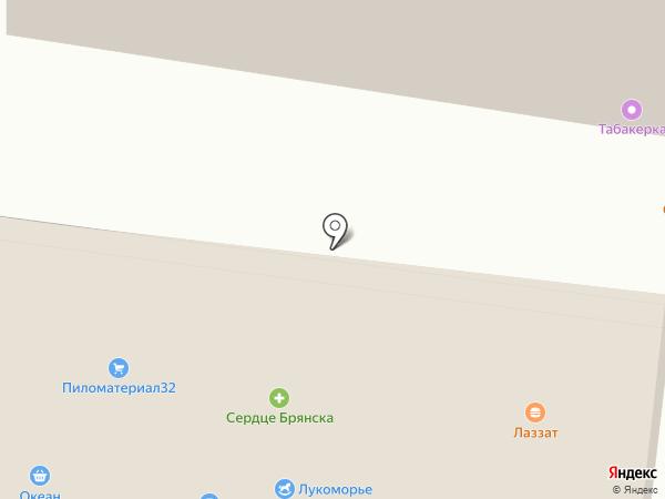 Беркут на карте Брянска