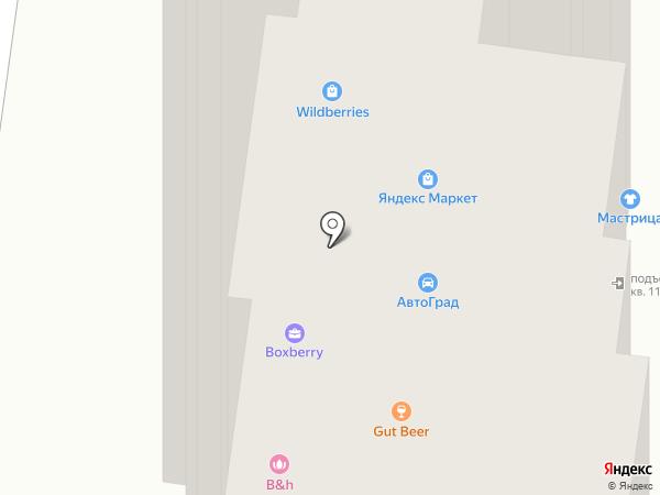 Агат на карте Брянска