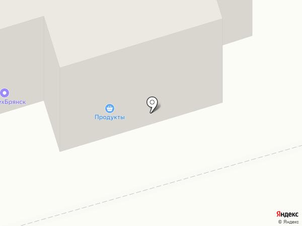 Сияние на карте Брянска