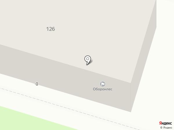 Оборонлес, ФГУ на карте Брянска