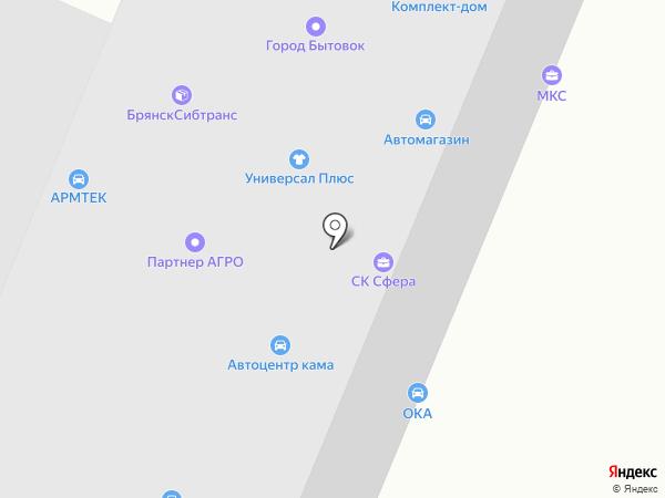 Ока на карте Брянска