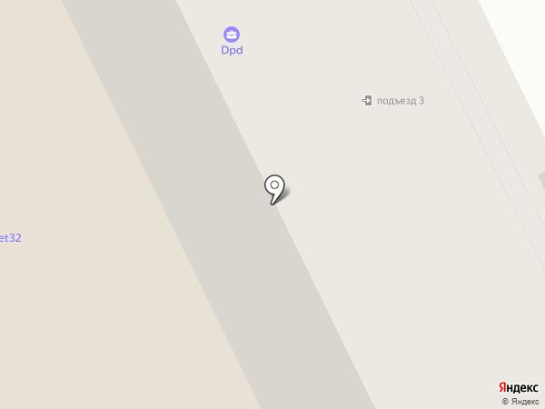 Очкарик на карте Брянска