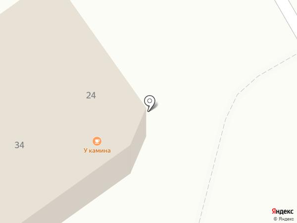 У камина на карте Петрозаводска