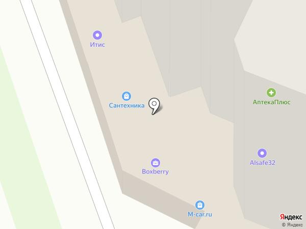 Итис на карте Брянска