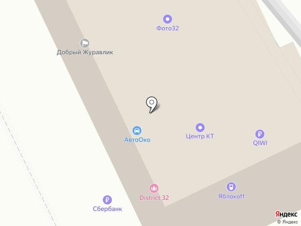 Банкомат, Среднерусский банк Сбербанка России на карте Брянска