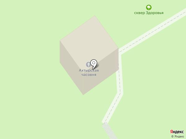 Часовня во имя Ахтырской иконы Божией Матери при Республиканской больнице им. В.А. Баранова на карте Петрозаводска