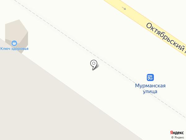 Киоск по продаже мясной продукции на карте Петрозаводска