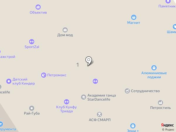 Карал тур на карте Петрозаводска