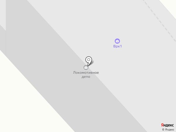Ремонтное вагонное депо на карте Петрозаводска