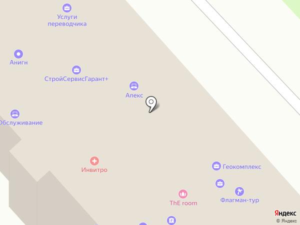 Эгида на карте Брянска