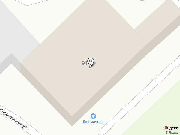 Башмачник на карте Брянска
