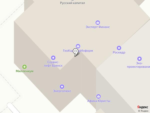 Центр страхования на карте Брянска