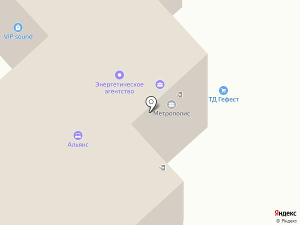 Метрополис на карте Брянска