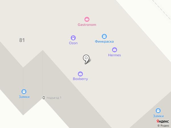 Финкраска на карте Брянска