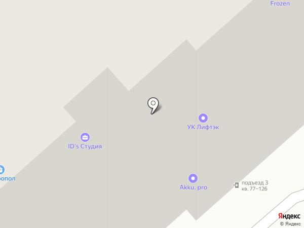 Бархат на карте Брянска