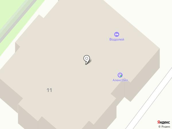 Водолей на карте Брянска