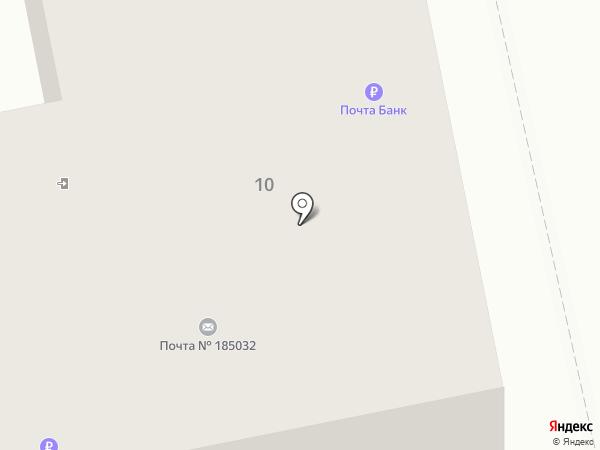Почтовое отделение №32 на карте Петрозаводска