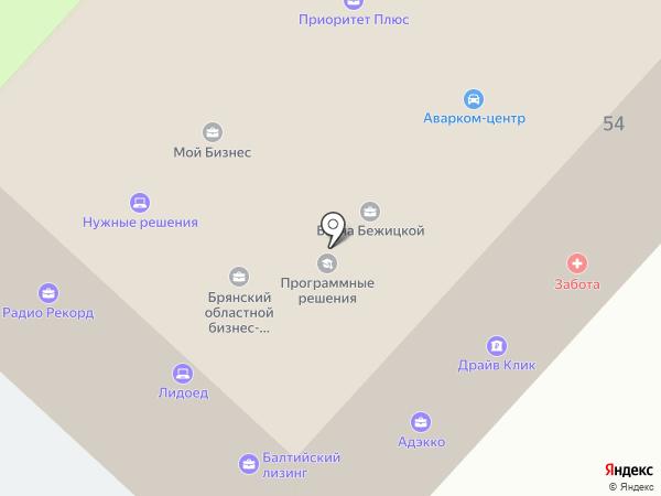 Банк БНП Париба на карте Брянска