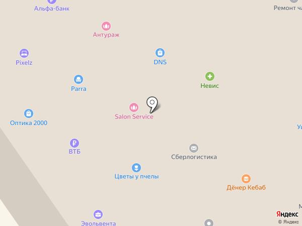 Фламинго на карте Петрозаводска