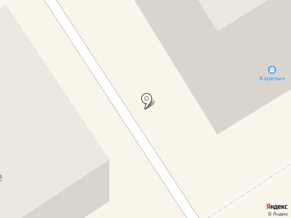 Текстильерро на карте Петрозаводска