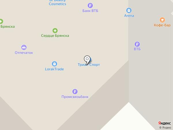 Магазин оптики на карте Брянска