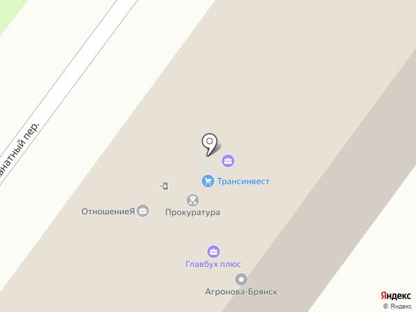 Транспортные системы 2000 на карте Брянска
