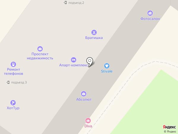 Stivale на карте Брянска