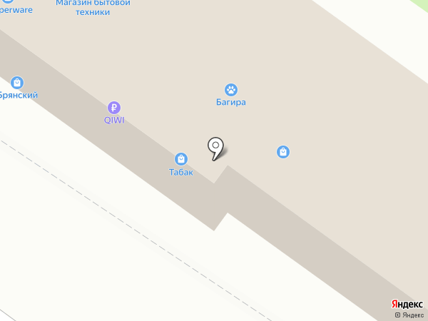 Анега на карте Брянска