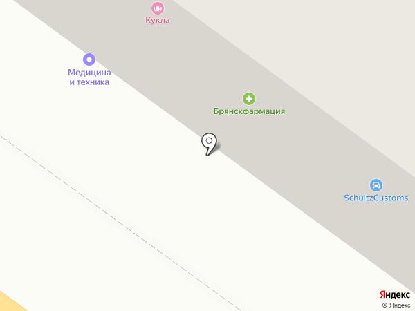 Брянскфармация, ГУП на карте Брянска