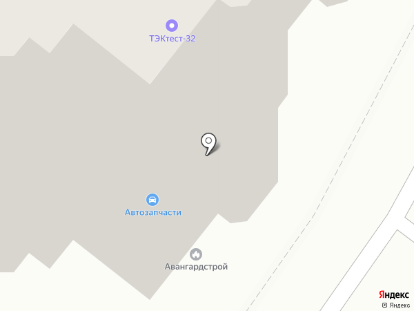 Вектор на карте Брянска
