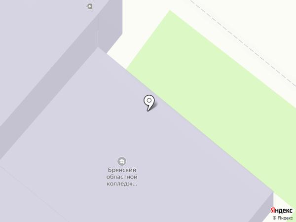 Брянский областной колледж искусств и культуры на карте Брянска