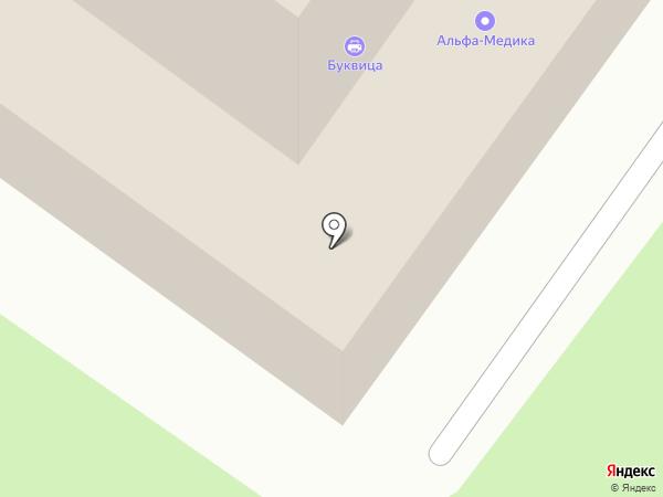 Буквица на карте Брянска